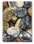 Colored Polished Rocks Spiral Notebook