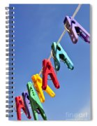 Colorful Clothes Pins Spiral Notebook