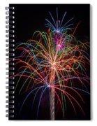 Colorful Fireworks Spiral Notebook