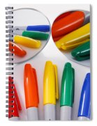 Colorful Markers Spiral Notebook