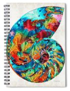 Colorful Nautilus Shell By Sharon Cummings Spiral Notebook
