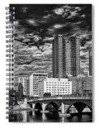 Columbus Ohio Skyline Spiral Notebook