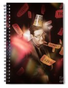 Comedy Entertainment Man On Theater Stage Spiral Notebook