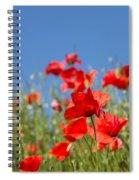 Common Poppy Flowers Spiral Notebook
