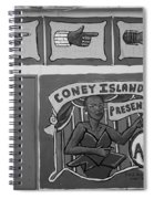 Coney Island Alive In Black And White Spiral Notebook