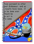 Confederate States Of America Robert E Lee Spiral Notebook