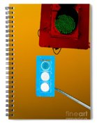 Confusing Wrong-color Traffic Lights And Copyspace Spiral Notebook