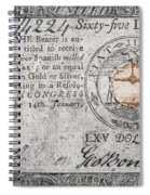 Continental Currency, 1779 Spiral Notebook