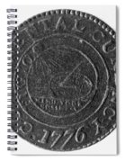 Continental Dollar, 1776 Spiral Notebook