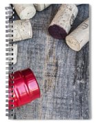 Corks With Bottle Spiral Notebook