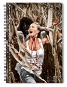 Corn Field Horror Spiral Notebook