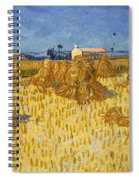 Corn Harvest In Provence Spiral Notebook