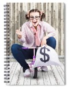 Corrupt Business Thief In A Smart Stealing Scam Spiral Notebook