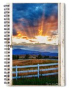 Country Beams Of Light Barn Picture Window Portrait View  Spiral Notebook