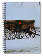Country Christmas Spiral Notebook
