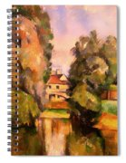Country House By A River Spiral Notebook