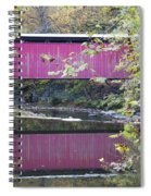 Covered Bridge Along The Wissahickon Creek Spiral Notebook