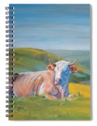 Cow Lying Down Spiral Notebook
