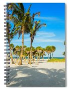 Crandon Park Beach Spiral Notebook