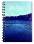 Crater Lake As A Painting Spiral Notebook