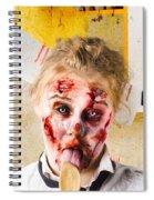 Crazy Sick Monster Eating Gmo Food Spiral Notebook