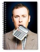 Credit Crunch Or Financial Struggle Spiral Notebook