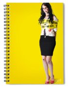 Creepy Homicide Girl Standing Undead On Yellow Spiral Notebook