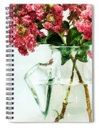 Crepe Myrtle In A Vase Spiral Notebook