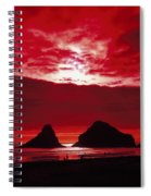 Crimson Sunset Spiral Notebook