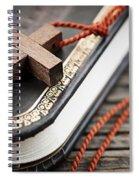 Cross On Bible Spiral Notebook