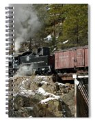 Crossing The High Bridge Spiral Notebook