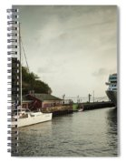 Cruise Ship At Port, Kingstown, Saint Spiral Notebook