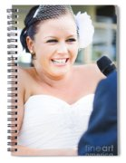 Crying And Laughing Bride Spiral Notebook