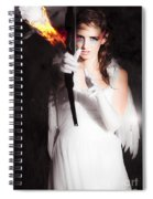 Cupid Angel Of Romance Setting Hearts On Fire Spiral Notebook