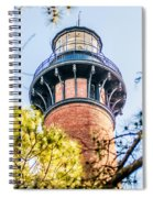 Currituck Beach Lighthouse On The Outer Banks Of North Carolina Spiral Notebook