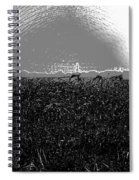 Cut And Dried Grass Along With Growing Grass Spiral Notebook