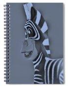Cyan Zebra Spiral Notebook