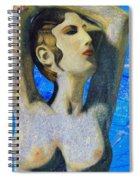 Cyprus Map And Aphrodite Spiral Notebook
