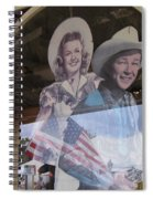 Dale Evans Roy Rogers Cardboard Cut-outs Flag Reflection Helldorado Days Tombstone 2004 Spiral Notebook