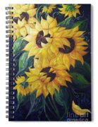 Dancing Sunflowers  Spiral Notebook