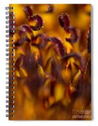 Bordeaux Red Stamens Spiral Notebook