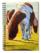Dartmoor Ponies Painting Spiral Notebook