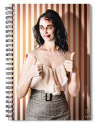Dead Set Business Woman Ready With Thumbs Up Spiral Notebook