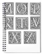 Decorative Initials, C1600 Spiral Notebook