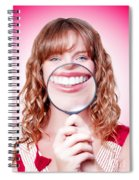 Dentist Showing White Teeth In A Dental Checkup Spiral Notebook