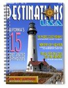 Destinations Usa Faux Magazine Cover Spiral Notebook