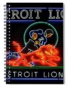 Detroit Lions Football Spiral Notebook