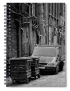 Dirty Back Streets Mono Spiral Notebook