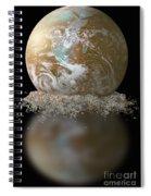 Dissolving Earth Spiral Notebook