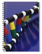 Dna Double Helix Spiral Notebook